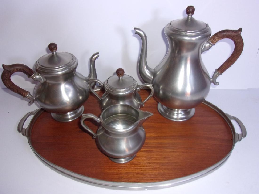 made in Holland vintage pewter tea set