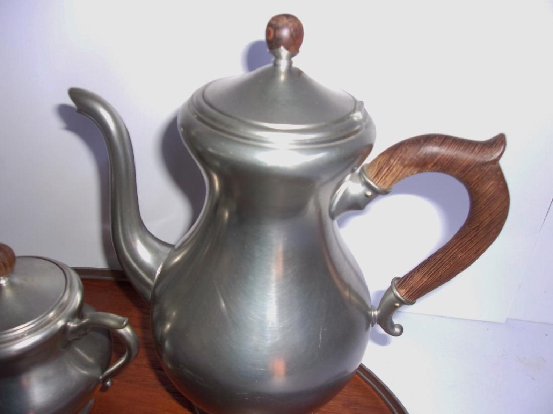 made in Holland vintage pewter tea set - 2