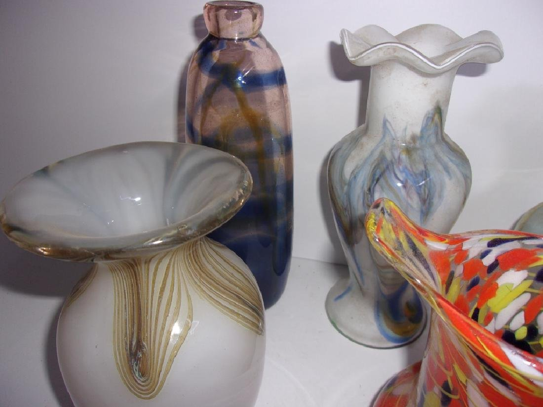 5 piece mid-century art glass lot - 3