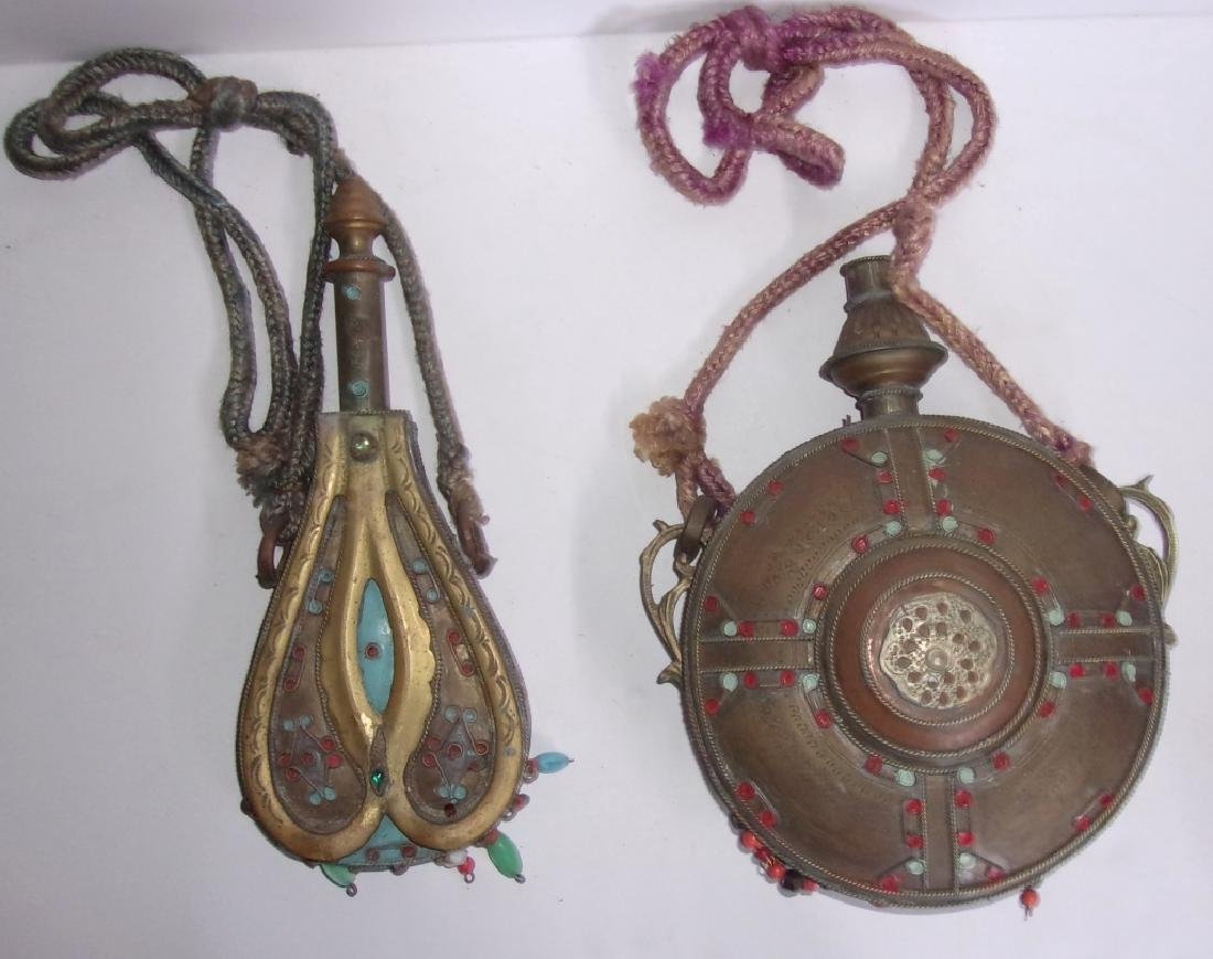 2 antique/vintage Mid-eastern canteens - 3
