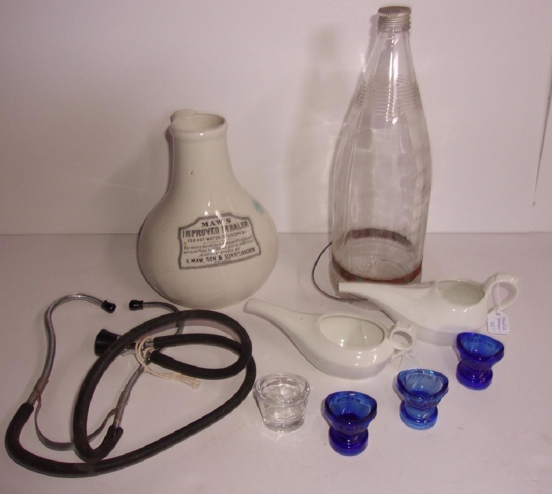 9 piece antique/vintage medical lot