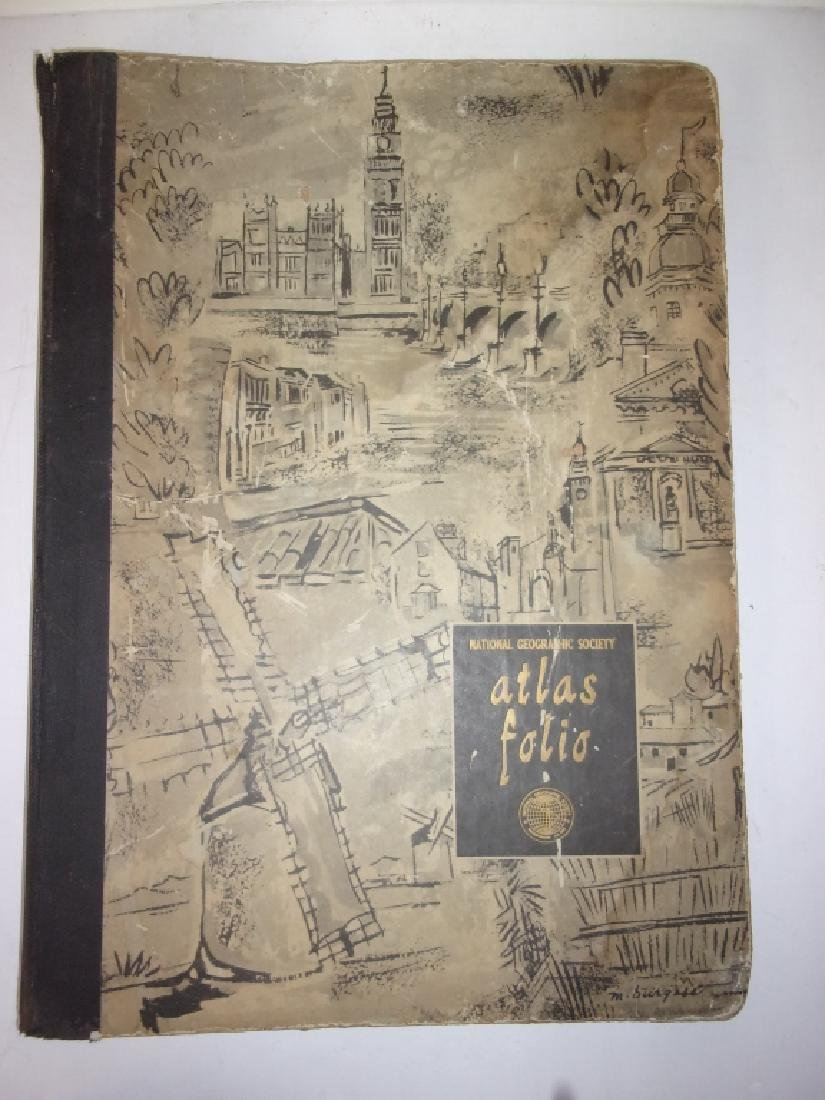 1959 National Geographic Society Atlas Folio
