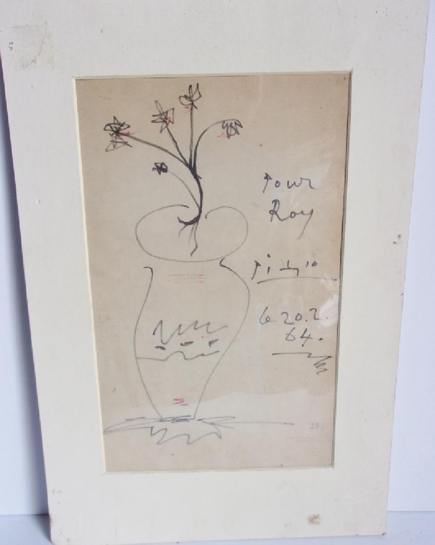 Picasso original drawing