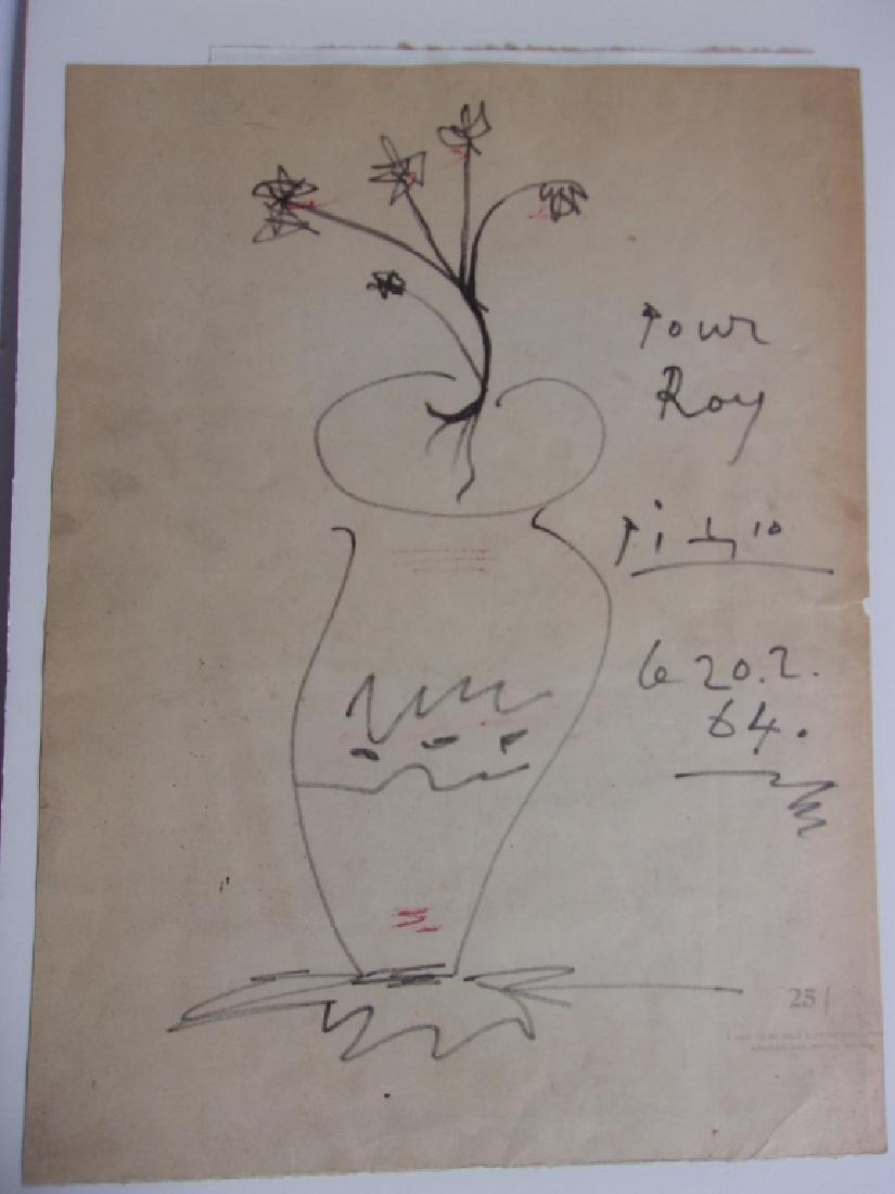 Picasso original drawing - 2