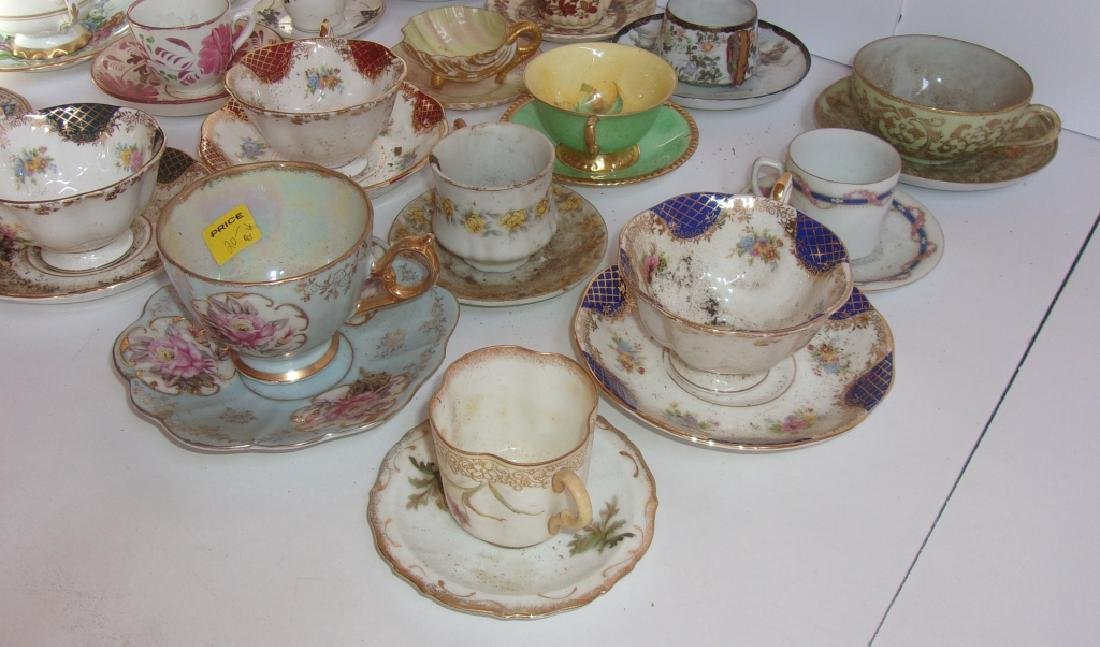 19 vintage assorted cups and saucers sets - 2