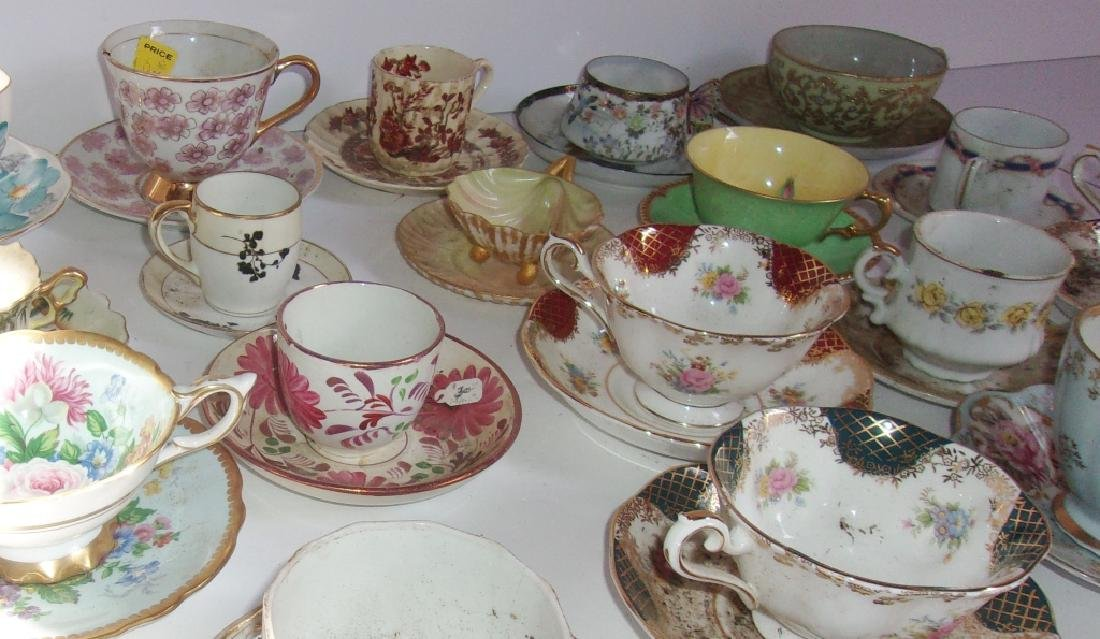 19 vintage assorted cups and saucers sets - 3