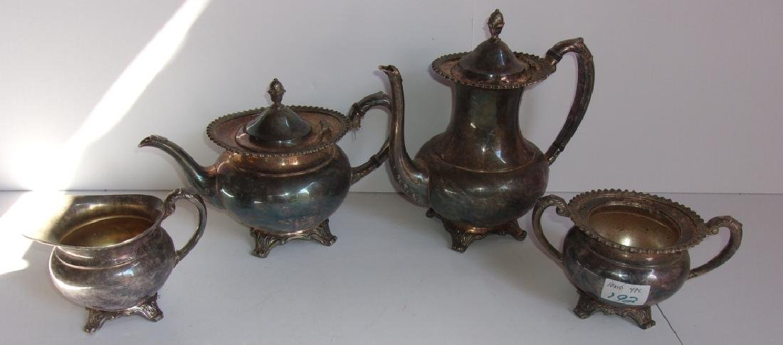 4 piece silver plate tea set