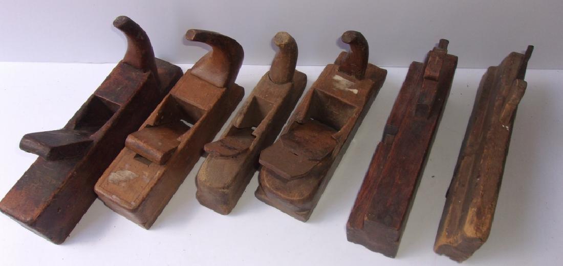 6 antique wood planes - 2
