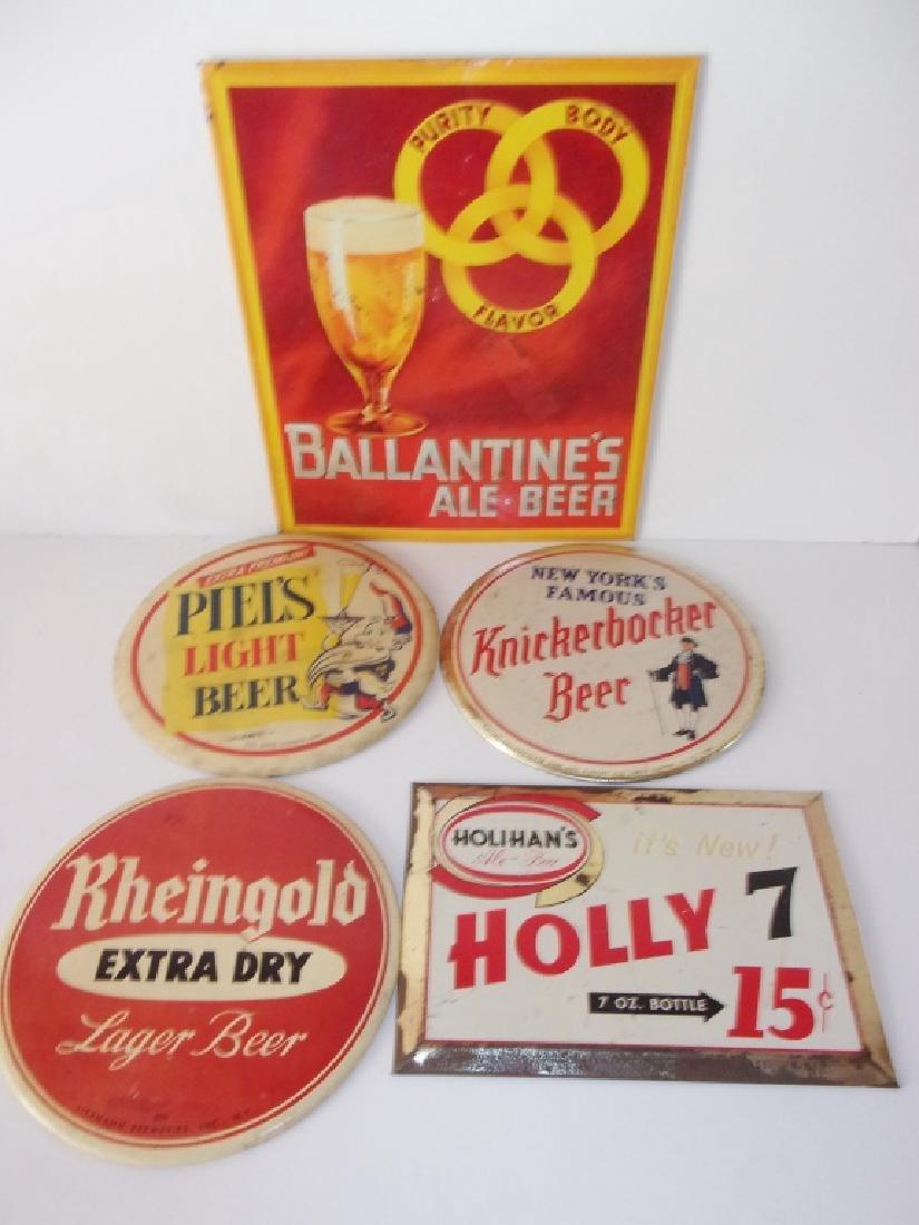 5 vintage beer advertising  signs