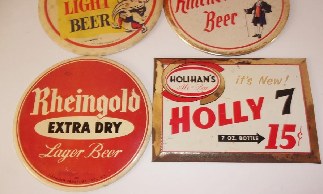 5 vintage beer advertising  signs - 4