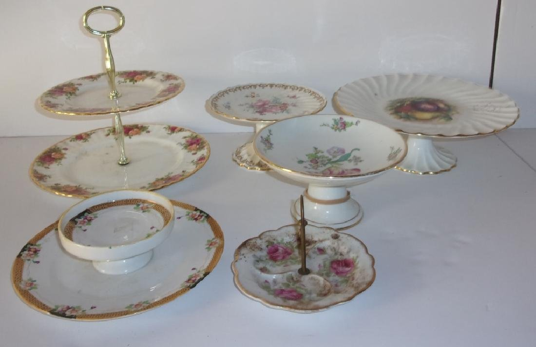 6 compotes two-tier serving tray cake dish