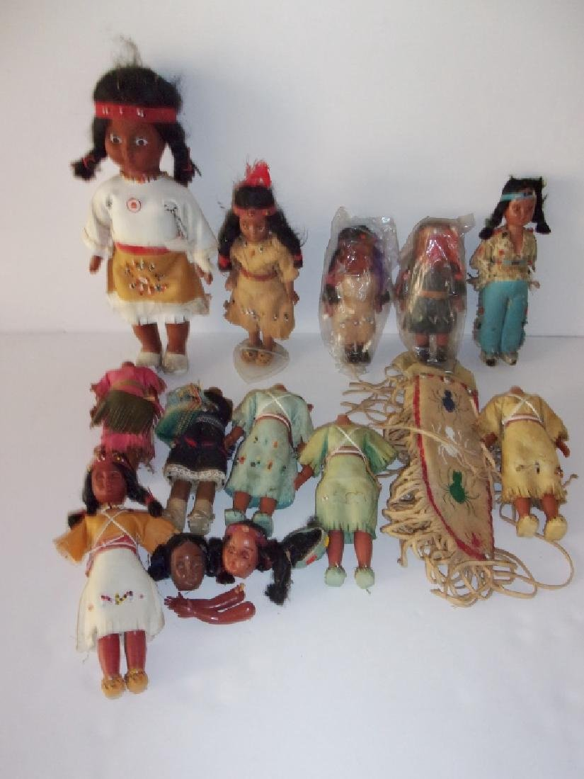 collection of Native American dolls