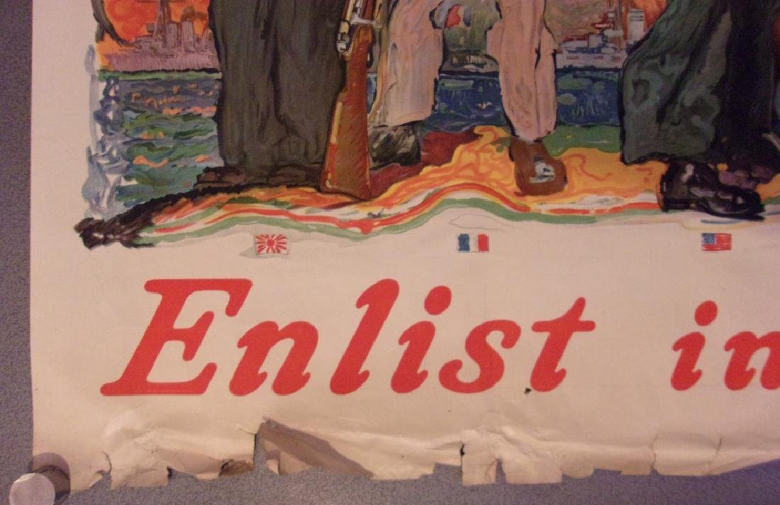 """WWI """"All together. Enlist in the Navy""""poster 1917 - 5"""