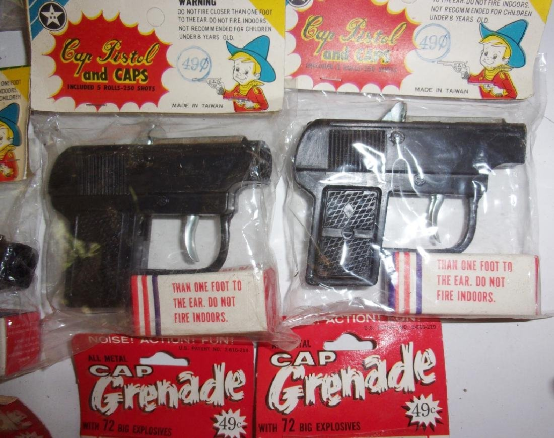 26 piece toy Gun pistol and caps and Grenades - 2