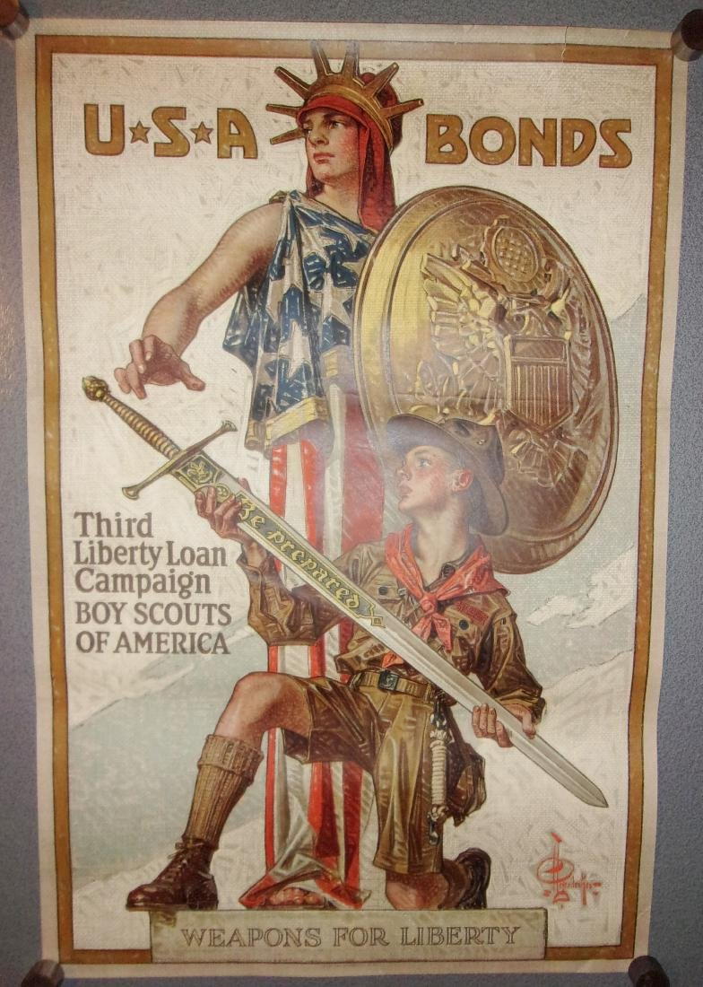 WWI weapons for liberty poster