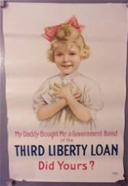 WWI third liberty loan poster 1917