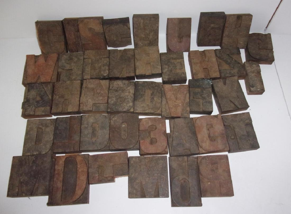 40 assorted printing block letters numbers