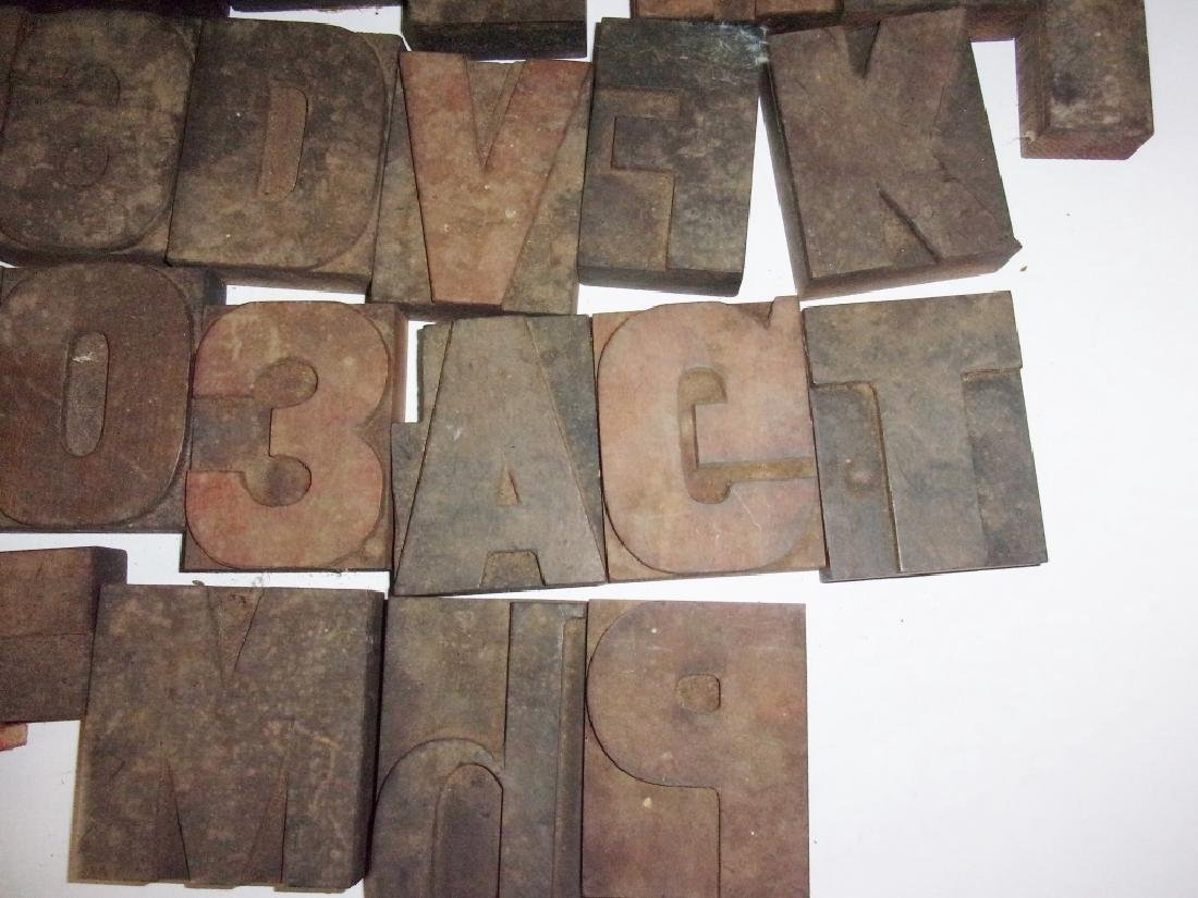 40 assorted printing block letters numbers - 4
