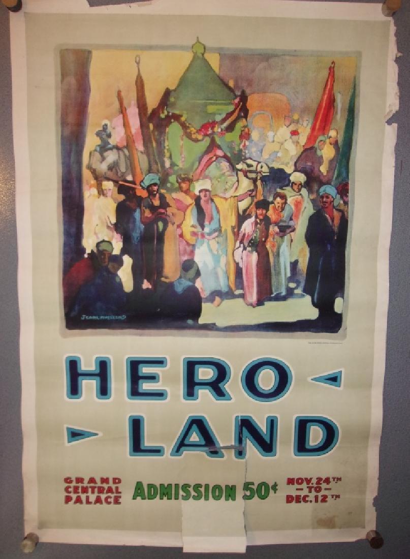 WWI hero land poster by J. Carl Mueller