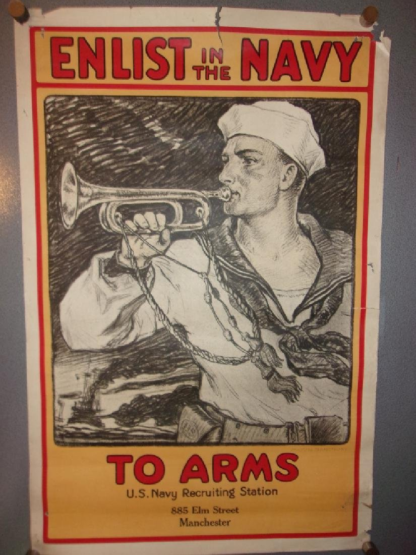 WWI US Navy recruiting station poster