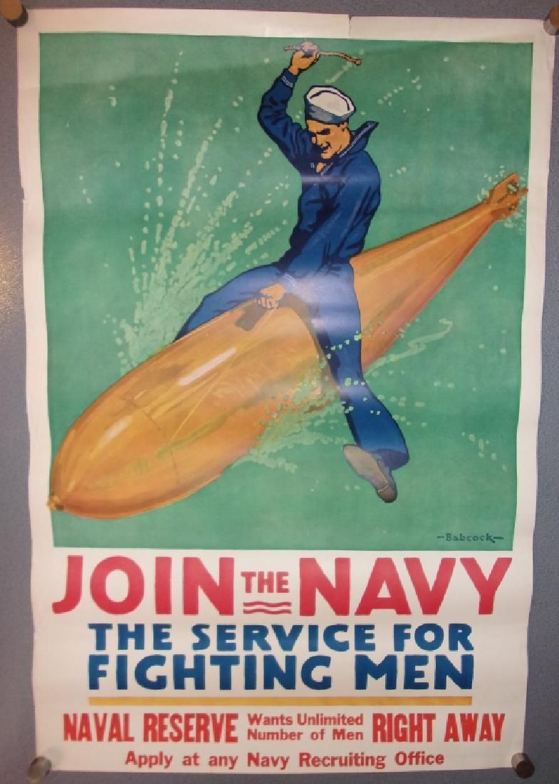 WWI join the Navy poster by Babcock