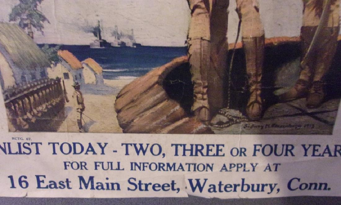 WWI US Marines recruiting poster - 2