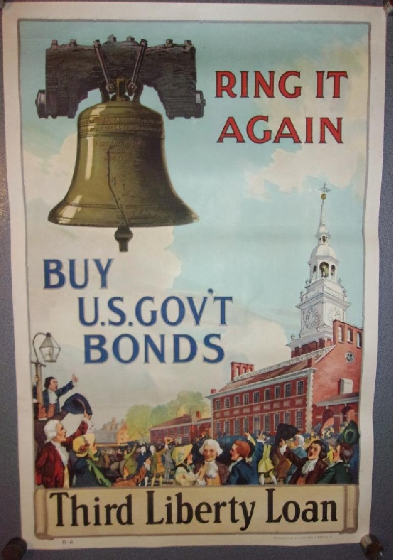 """WWI """"Ring it again"""" poster 1917"""