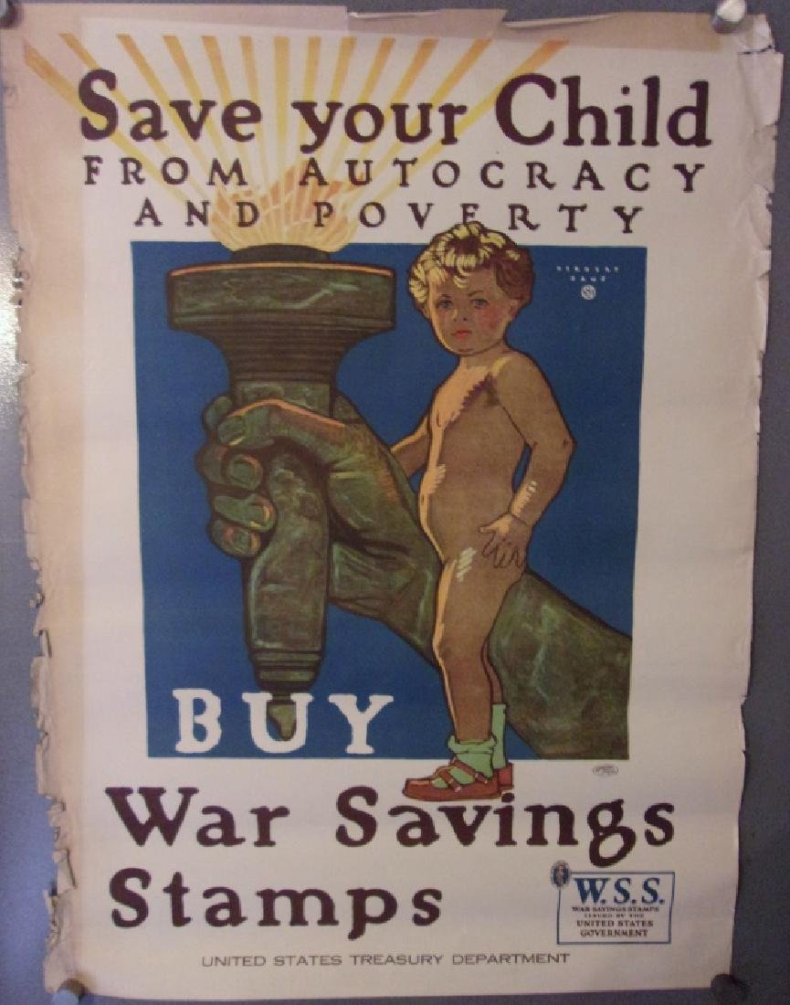 WWI war saving stamp poster
