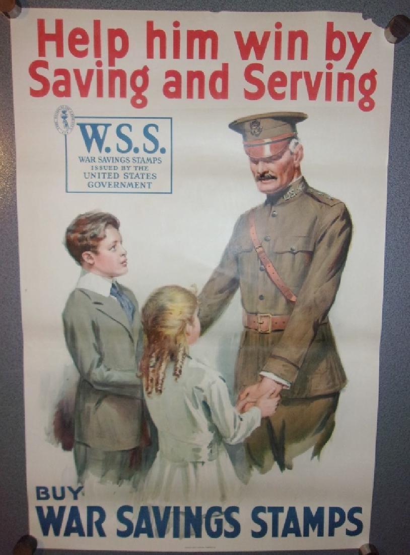 WWI buy war savings stamps poster