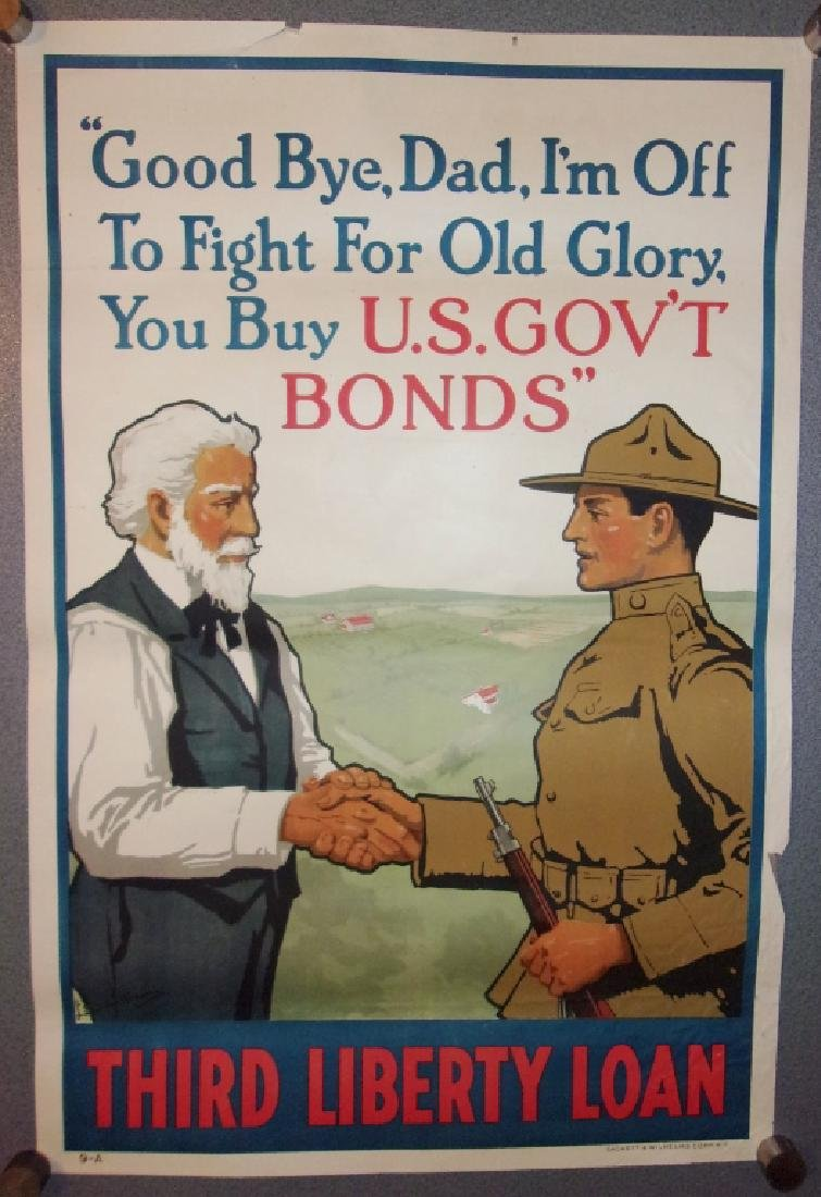 WWI third liberty loan poster