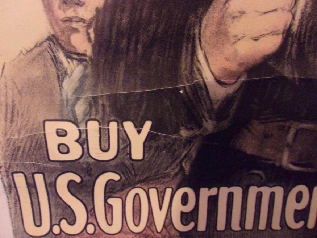 WWI US government bonds 3rd liberty loan poster - 3