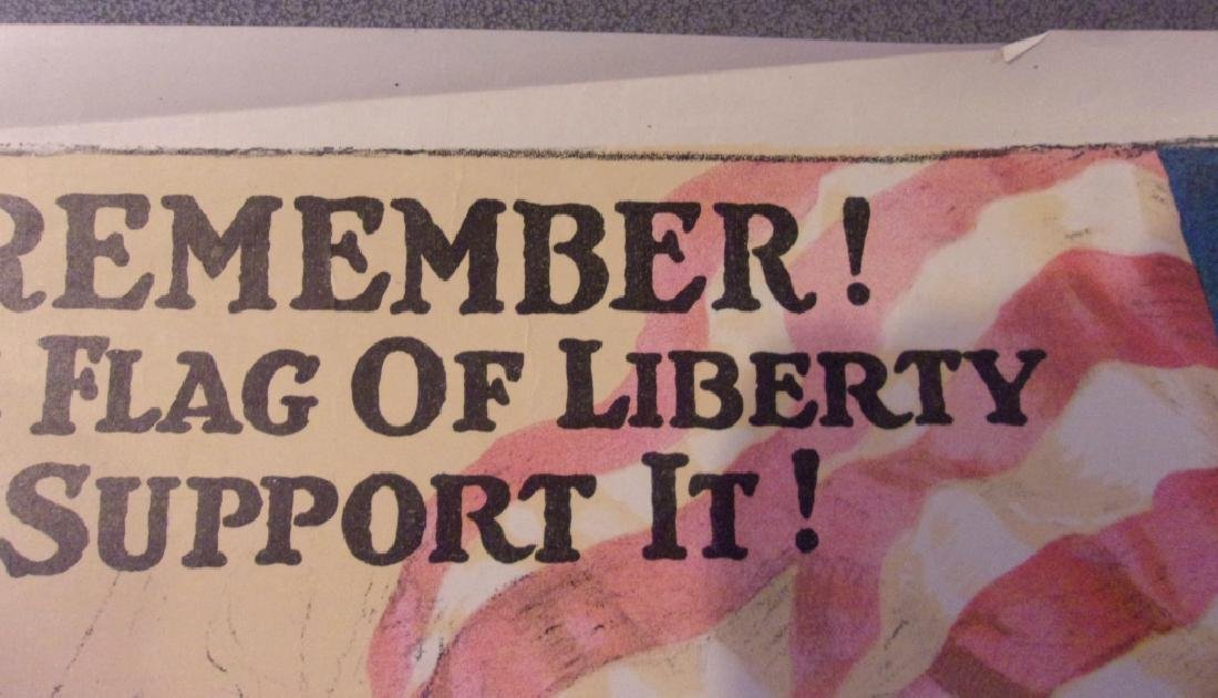 WWI US government bonds 3rd liberty loan poster - 4