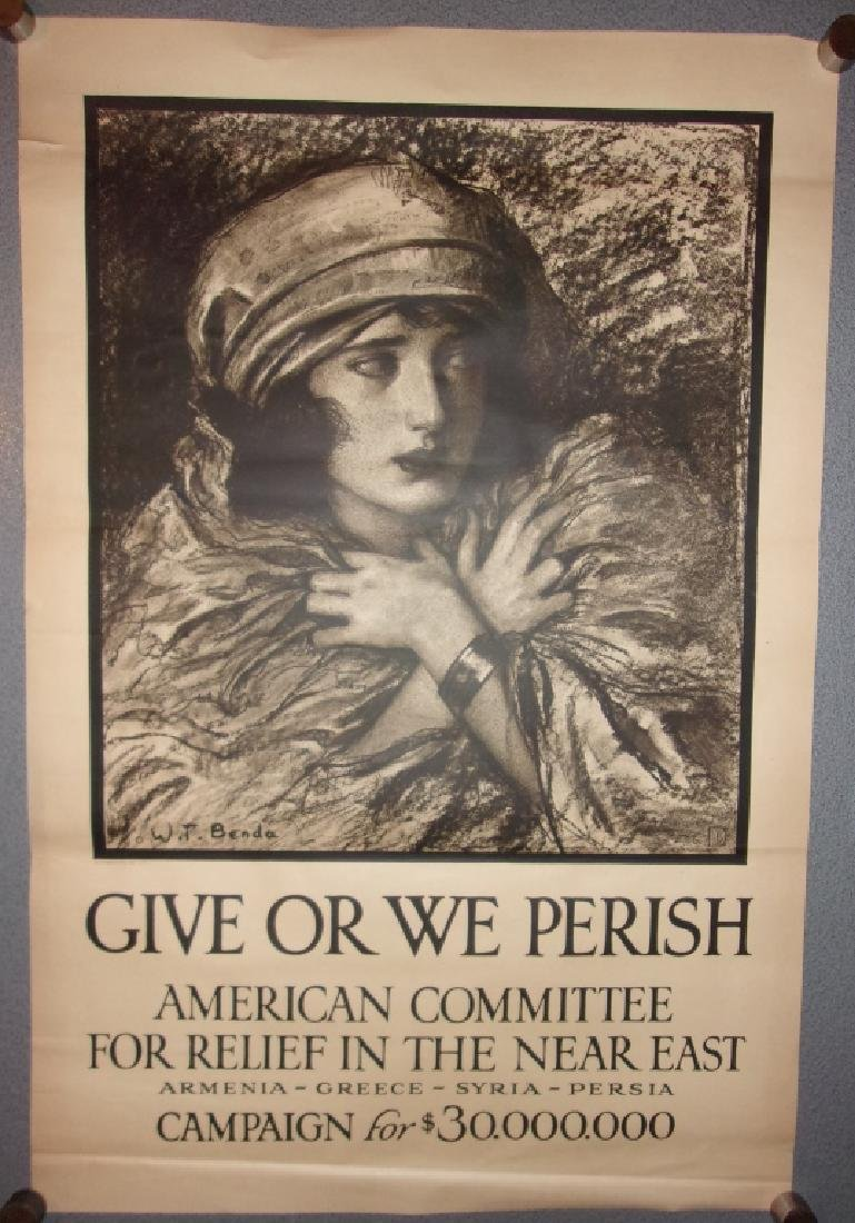 WWI American committee for relief poster