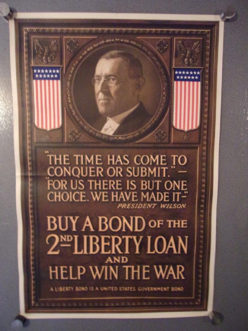 WWI 2nd liberty loan bond poster