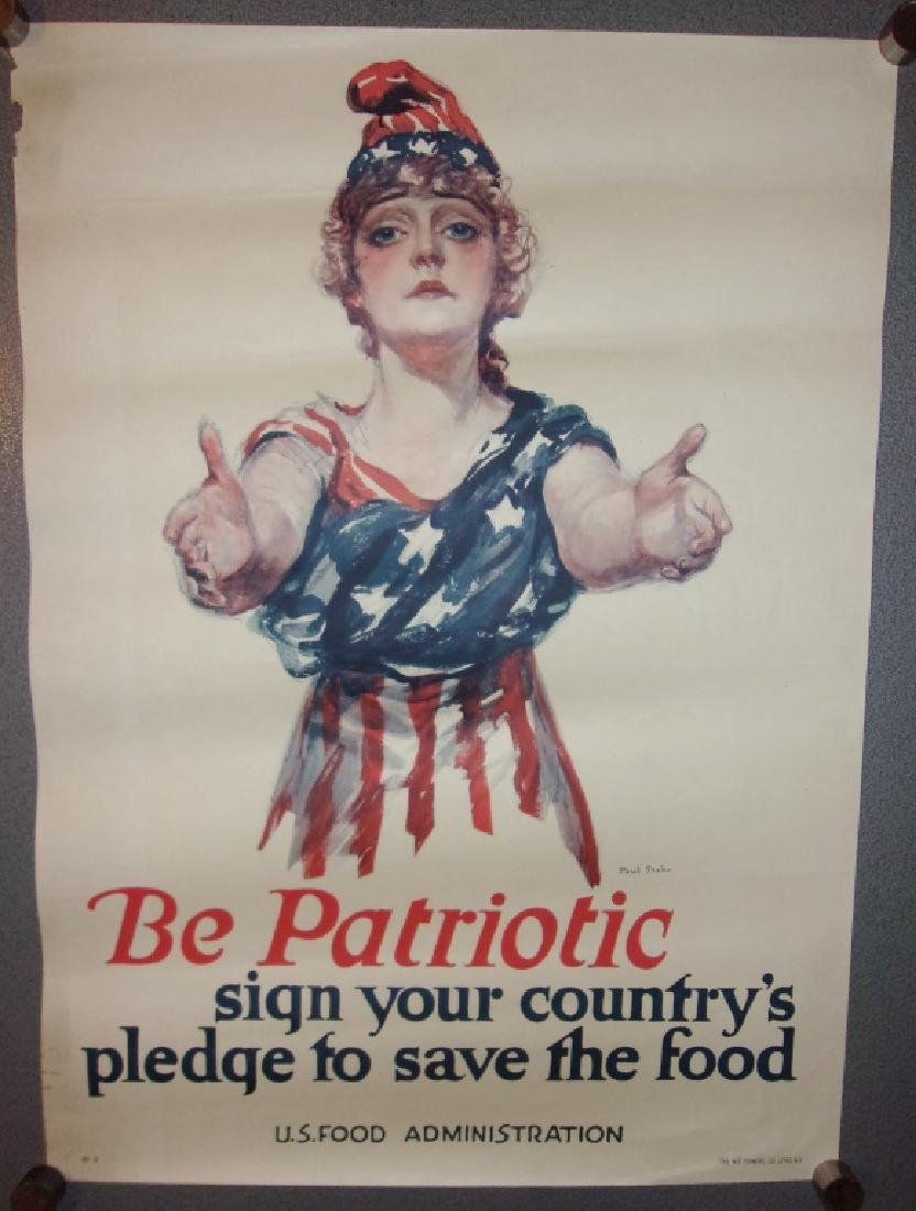 "WWI ""be patriotic"" save the food poster"