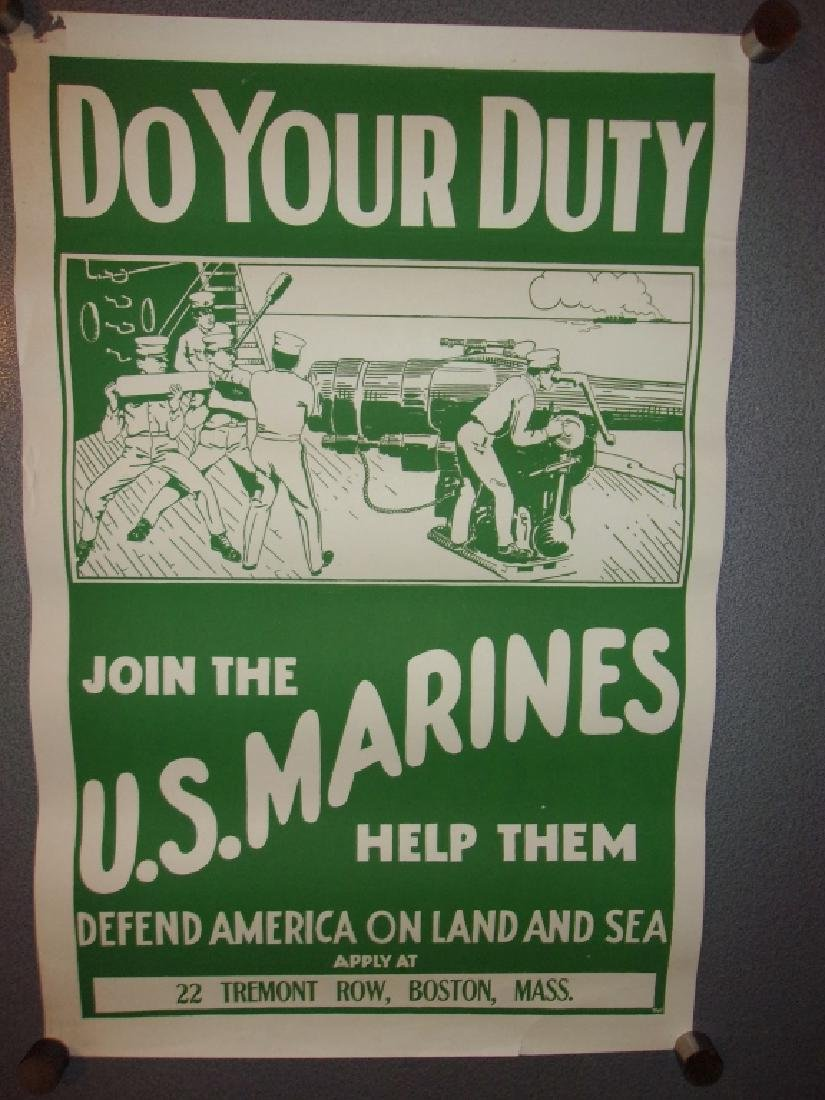 WWI US Marines recruiting poster