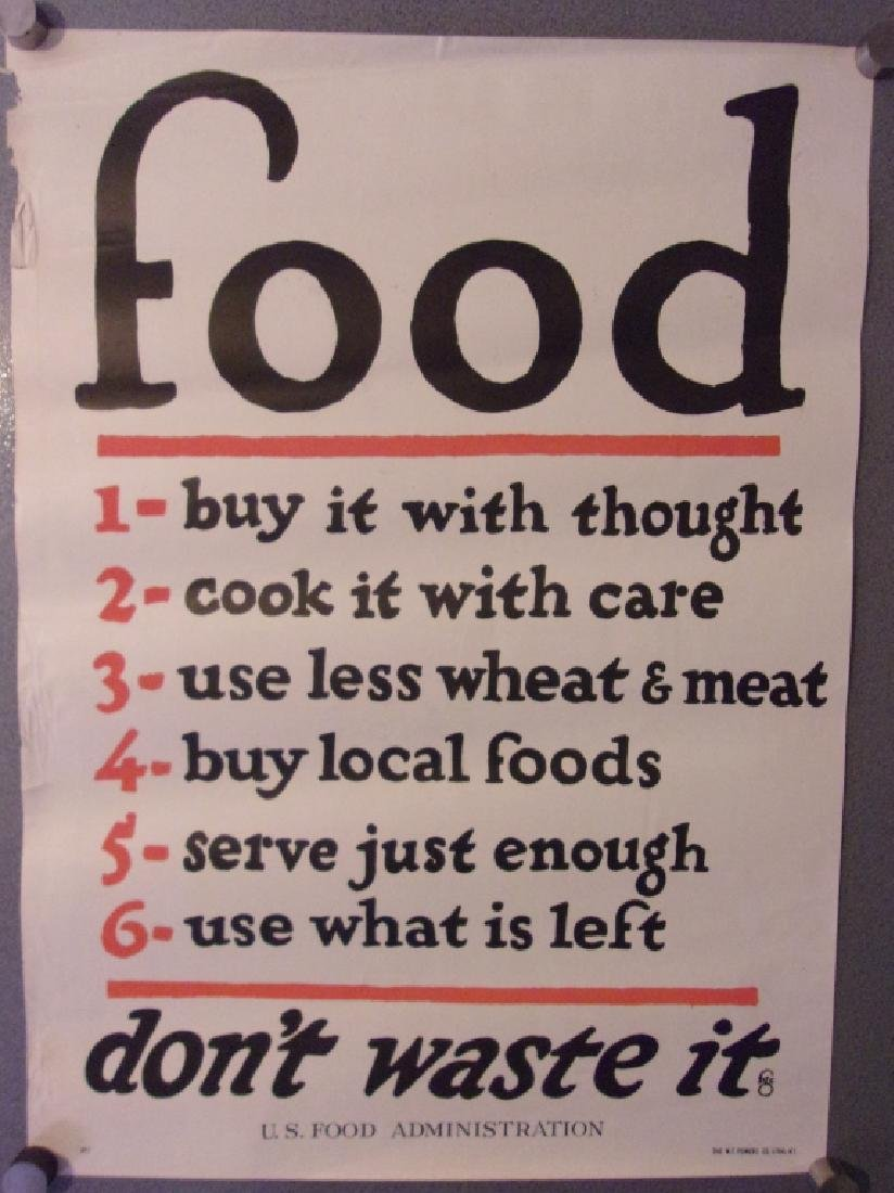 """WWI """"Food, don't waste it"""" poster"""