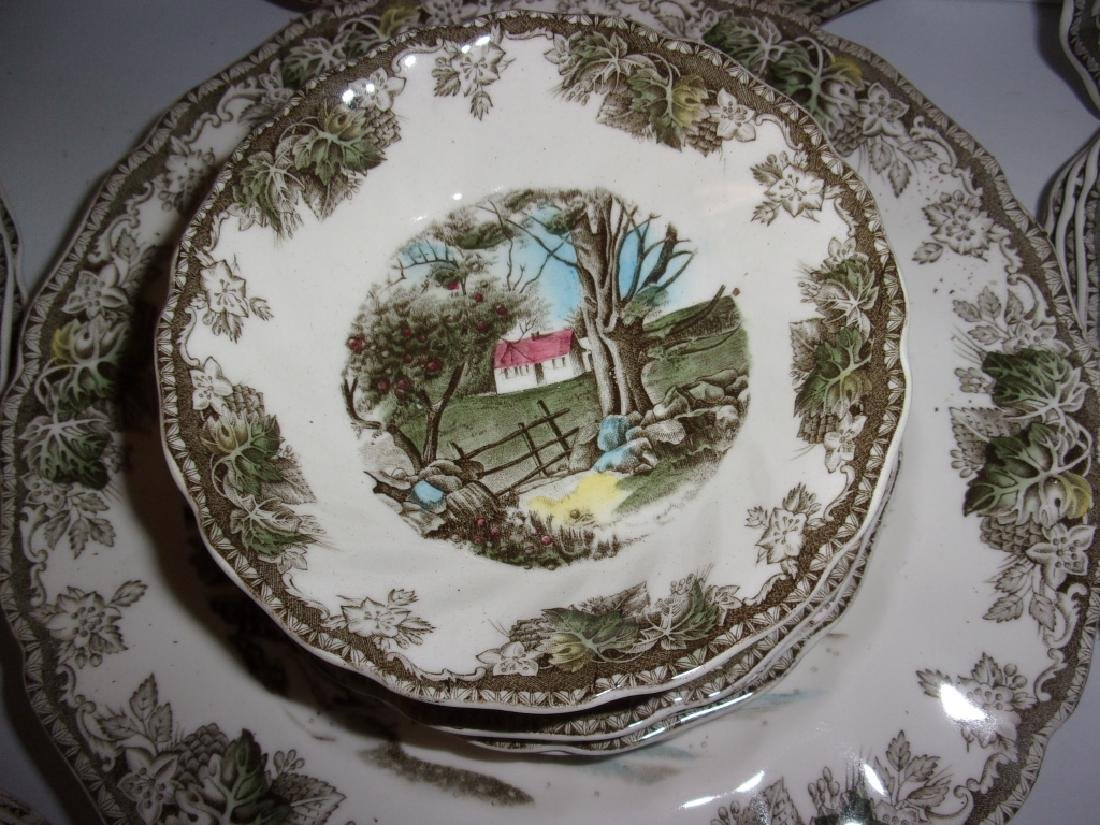 "55 piece ""the friendly village"" dish set - 10"