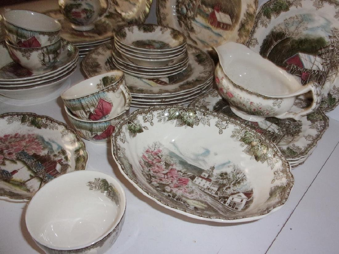 "55 piece ""the friendly village"" dish set - 12"