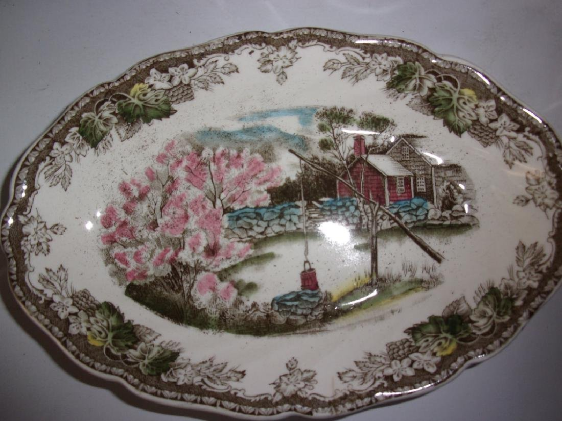 "55 piece ""the friendly village"" dish set - 13"