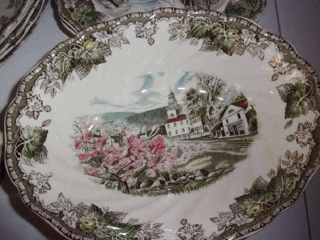"55 piece ""the friendly village"" dish set - 14"
