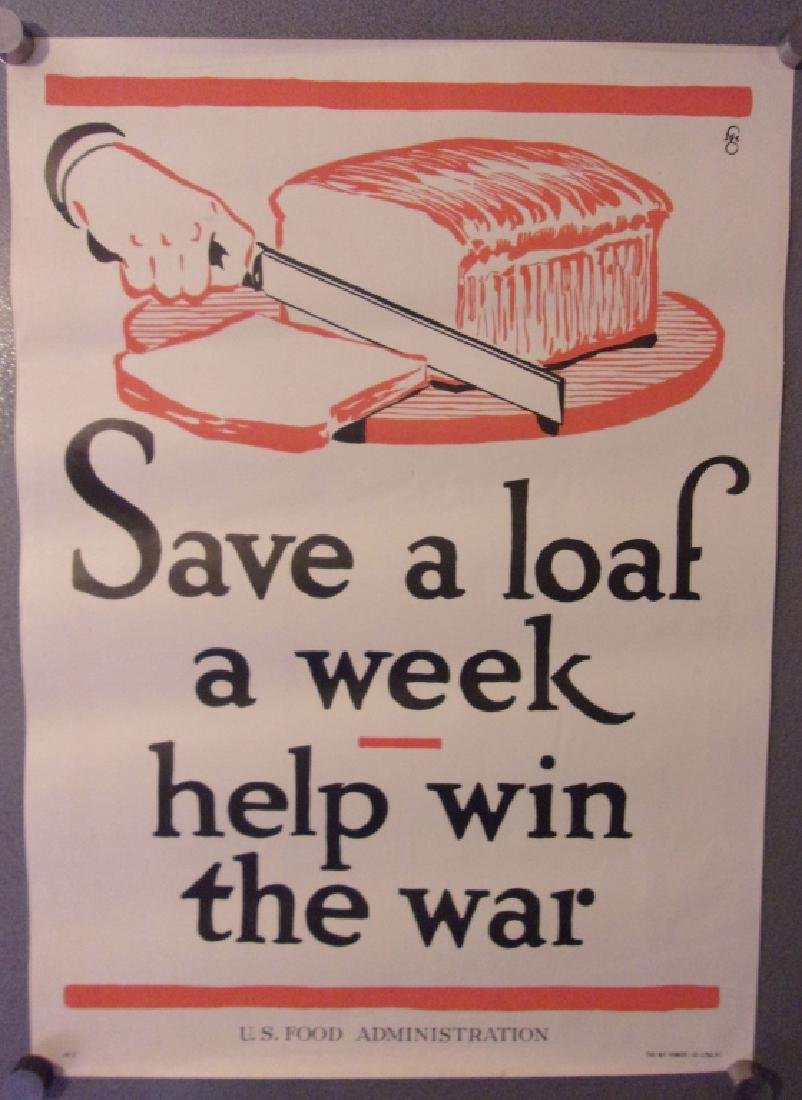 "WWI ""Save a loaf a week, help win the war"" poster"