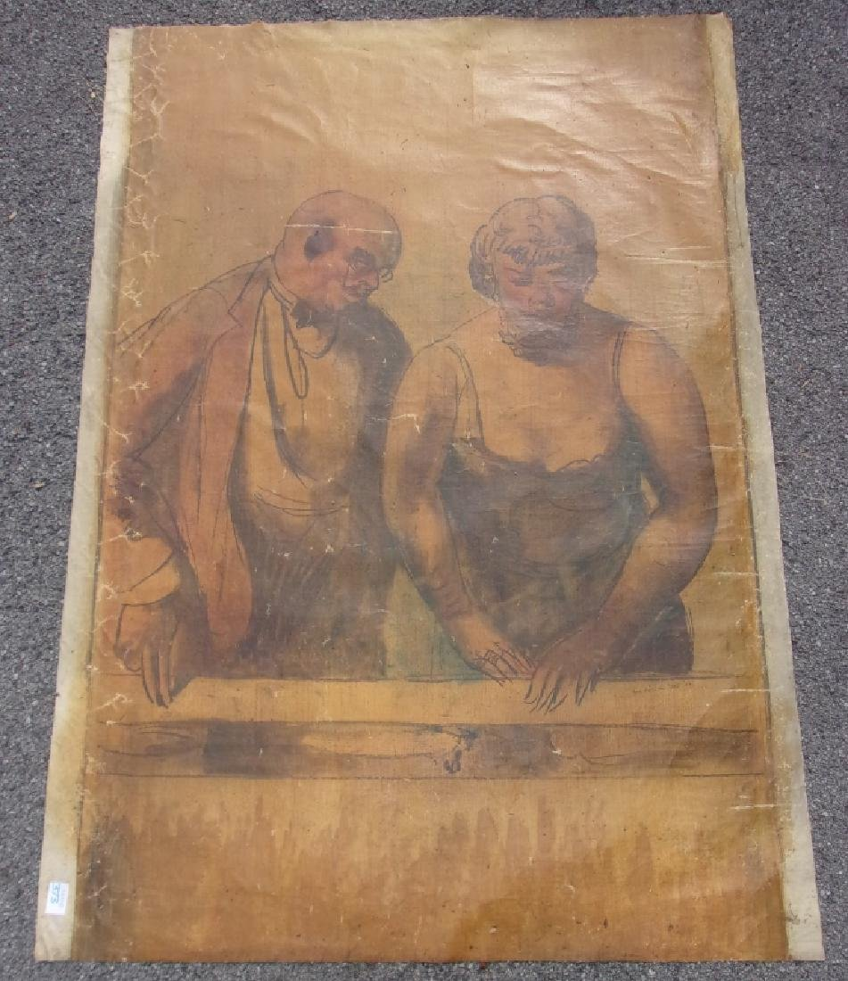 Large oil on canvas signed GUY PENE DU BOIS