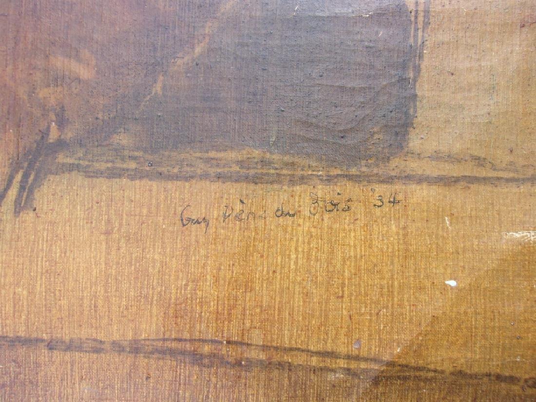Large oil on canvas signed GUY PENE DU BOIS - 3
