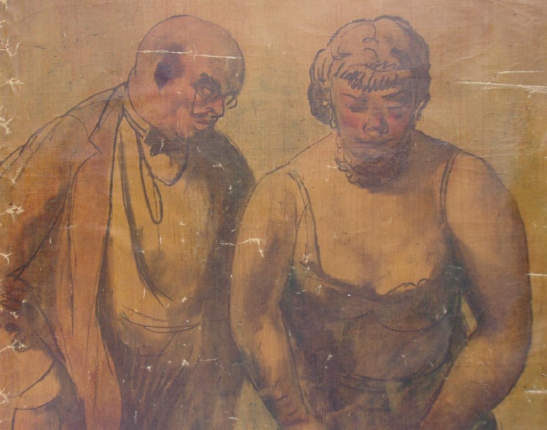 Large oil on canvas signed GUY PENE DU BOIS - 5