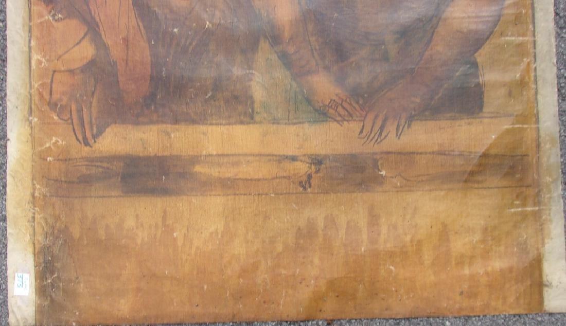 Large oil on canvas signed GUY PENE DU BOIS - 6