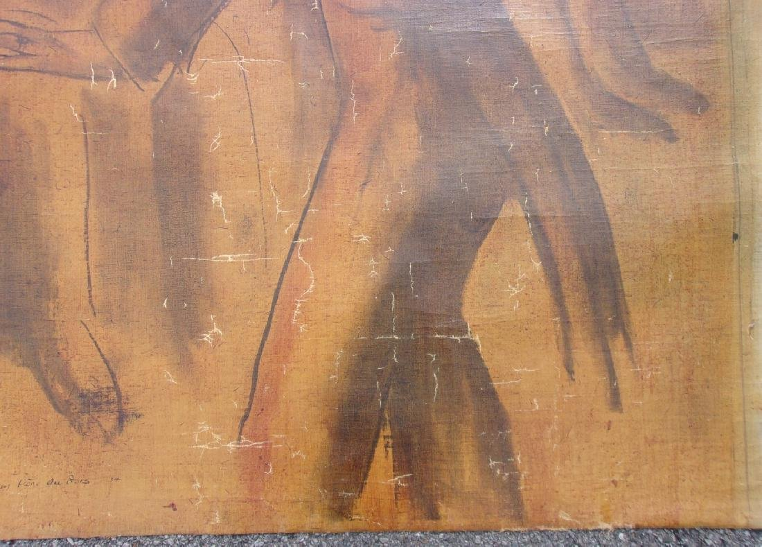 Large oil on canvas signed GUY PENE DU BOIS - 3