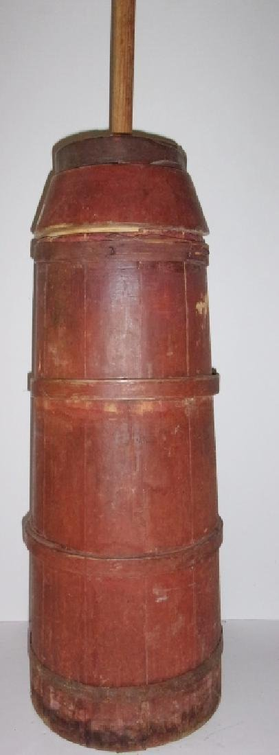 primitive country butter churn