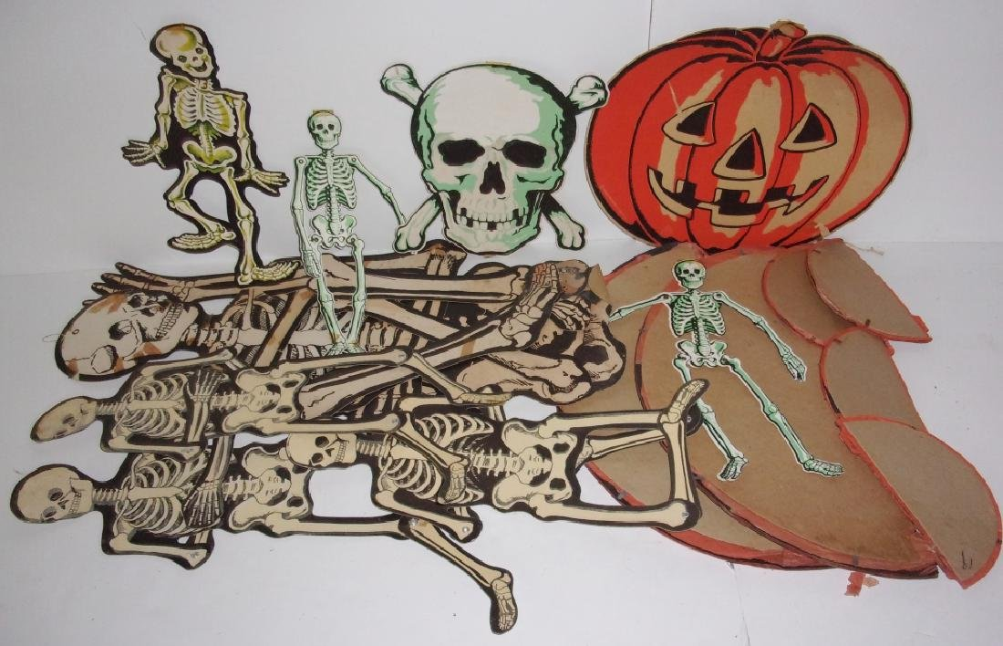 collection of vintage Halloween decorations