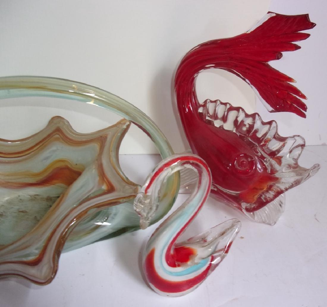 5 piece art glass lot - 2